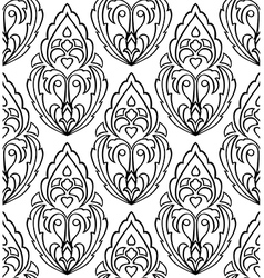 Ornament with damask vector