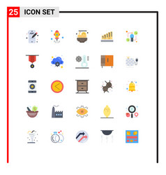 Pack 25 creative flat colors infect host vector