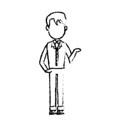 Pictogram young man standing avatar design vector