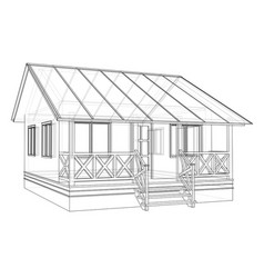 Private house sketch vector