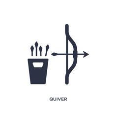 Quiver icon on white background simple element vector