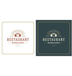 Restaurant logo template vector