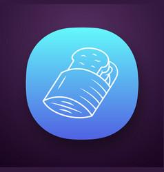 Reusable sandwich bag app icon vector