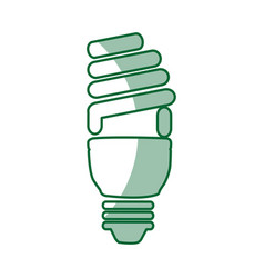 Saving bulb isolated icon vector