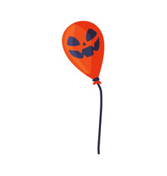 scary air balloon with spooky face happy vector image
