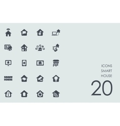 Set of smart house icons vector image