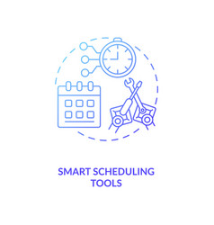 Smart scheduling tools concept icon vector