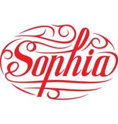 Sophia floral name vector