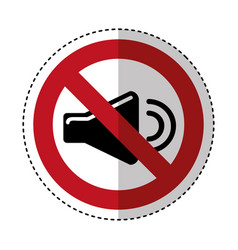 Sound mute sign icon vector