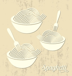 Spaghetti or noodle card vector image