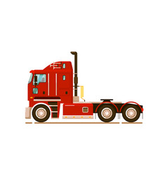 Special road truck transport on white background vector