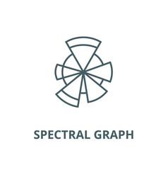 Spectral graph line icon linear concept vector