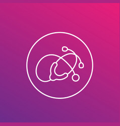 stethoscope linear icon vector image