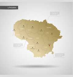 Stylized lithuania map vector