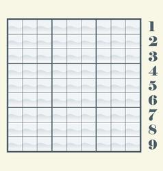 sudoku scheme vector image