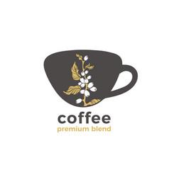Symbol shape cup coffee logo vector