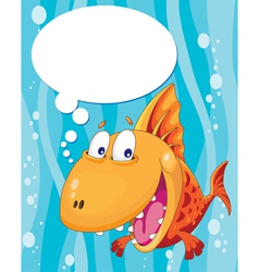 Talking fish vector