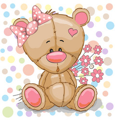 Teddy bear girl vector