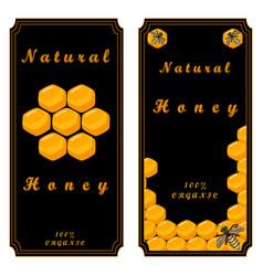 The yellow honey vector
