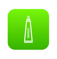 toothpaste in tube icon digital green vector image