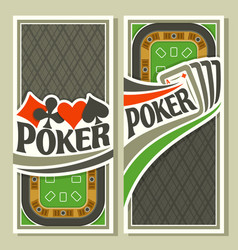 vertical banner for poker game vector image