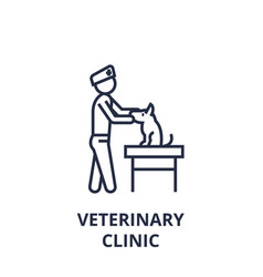veterinary clinic line icon outline sign linear vector image