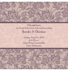 Vintage wedding invitation in romantic style vector image
