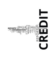 What is a credit report text word cloud concept vector
