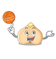 with basketball chickpeas character cartoon style vector image