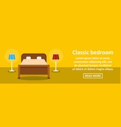 classic bedroom banner horizontal concept vector image