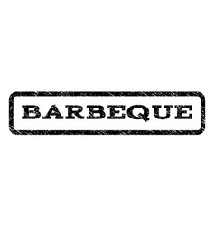 barbeque watermark stamp vector image