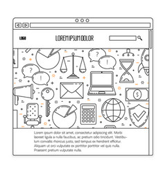 business ux template vector image vector image
