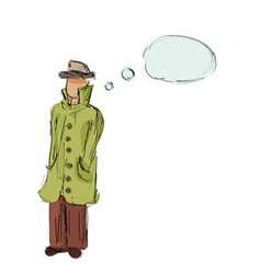 detective hand drawn vector image vector image
