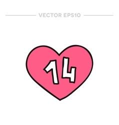 doodle icon Valentine heart vector image