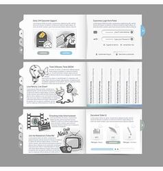 Website design menu navigation vector image