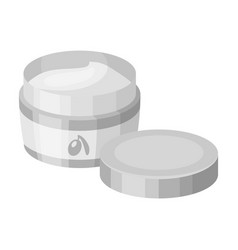 A can of olive creamolives single icon in vector