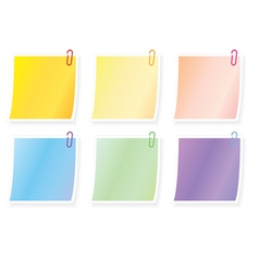 blank notes vector image vector image