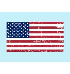 Flag usa sign grunge national symbol freedom vector