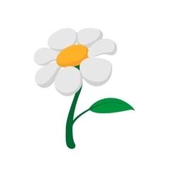 Garden flowers cartoon icon vector image vector image