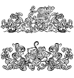 design ornament floral motifs vector image vector image