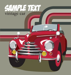 retro car vector image vector image