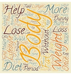 Simple Ways To Lose Weight text background vector image