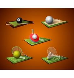 Sport Emblem Icons Set vector image vector image