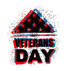 veterans day in usa flag america folded in vector image vector image