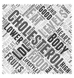 What to eat to lower cholesterol Word Cloud vector image