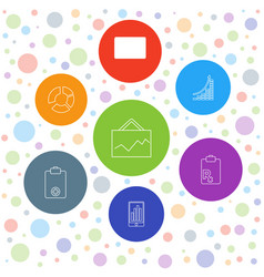 7 marketing icons vector image