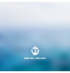 Abstract blue sea background vector