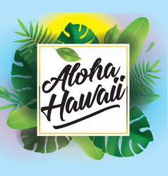 Aloha background for posters and banners vector