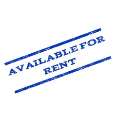 Available For Rent Watermark Stamp vector