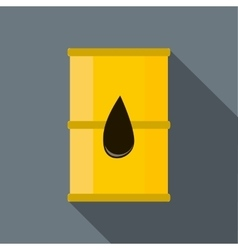 Barrel oil icon flat style vector image